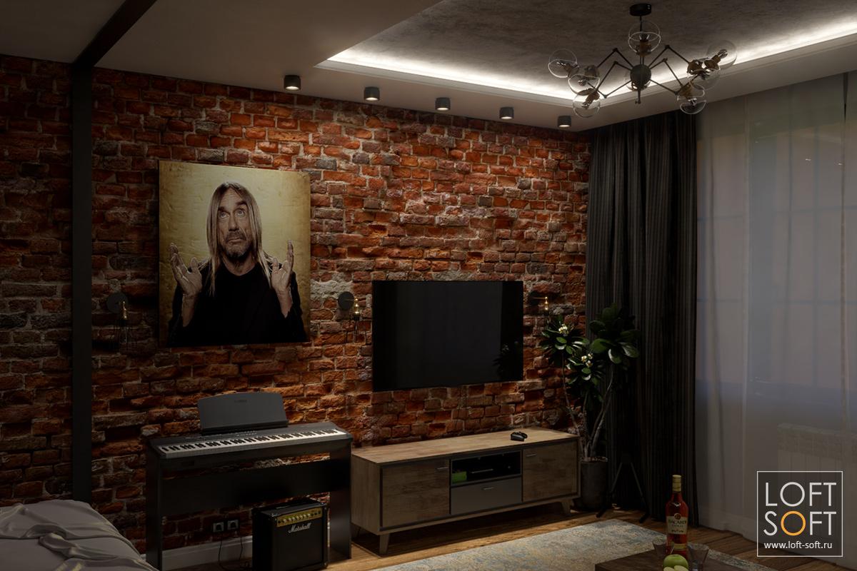 Сценарий освещения на примере одной комнаты — закарнизная подсветка и споты