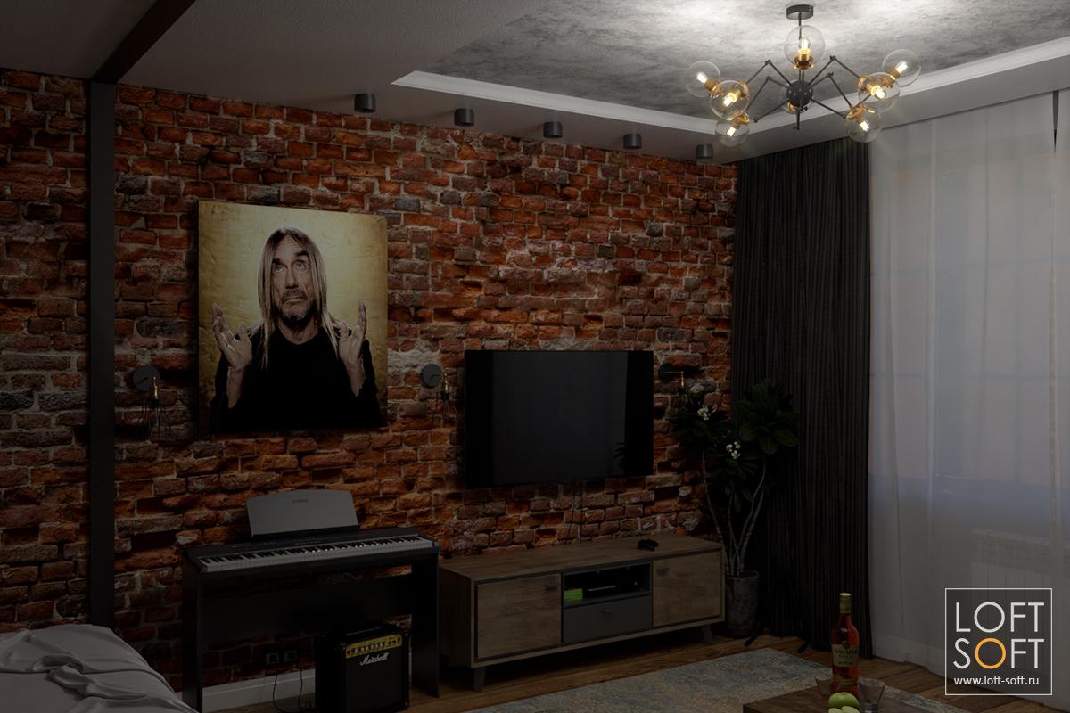 Сценарий освещения на примере одной комнаты — люстра в комнате