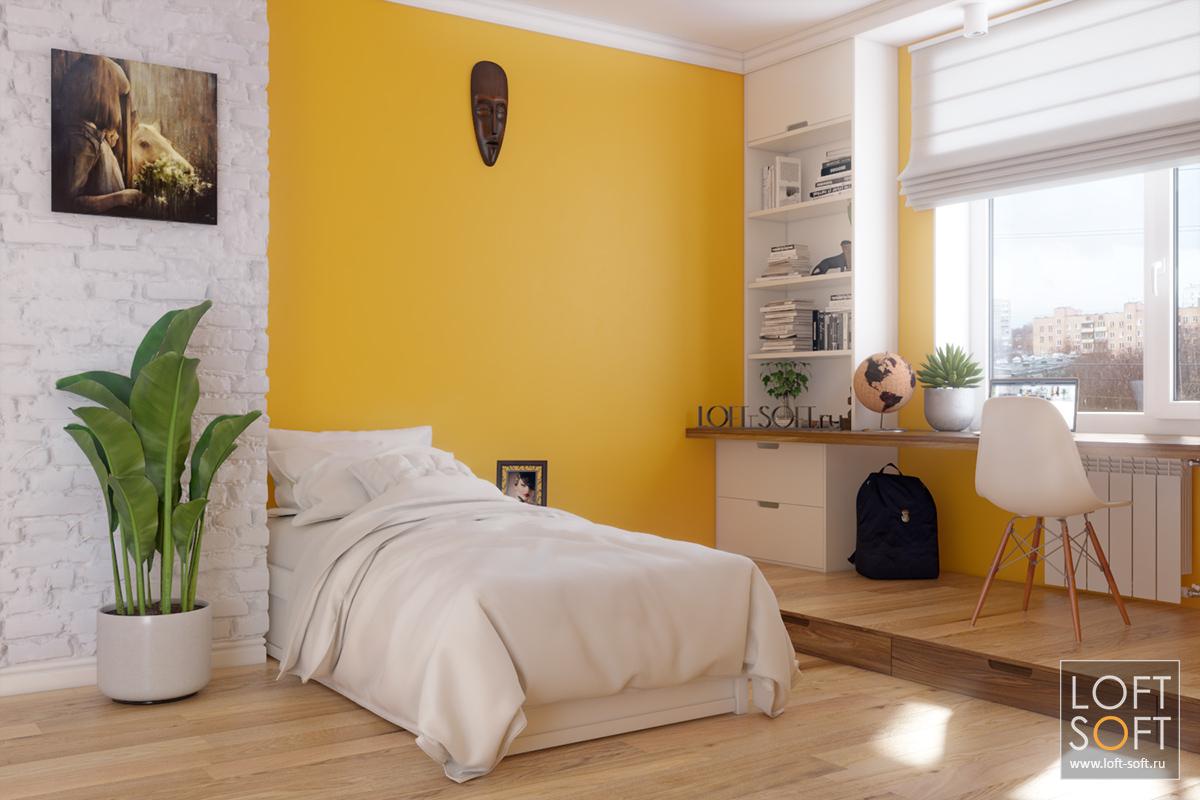жёлтый цвет в интерьере