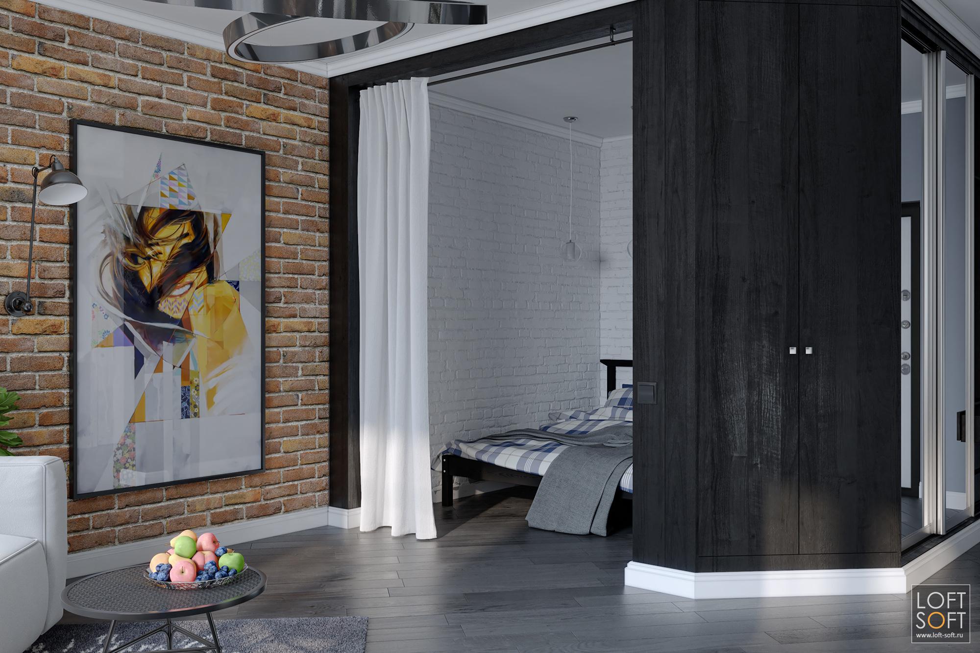 Квартира студия дизайн интерьера. Как разделить пространство комнаты.
