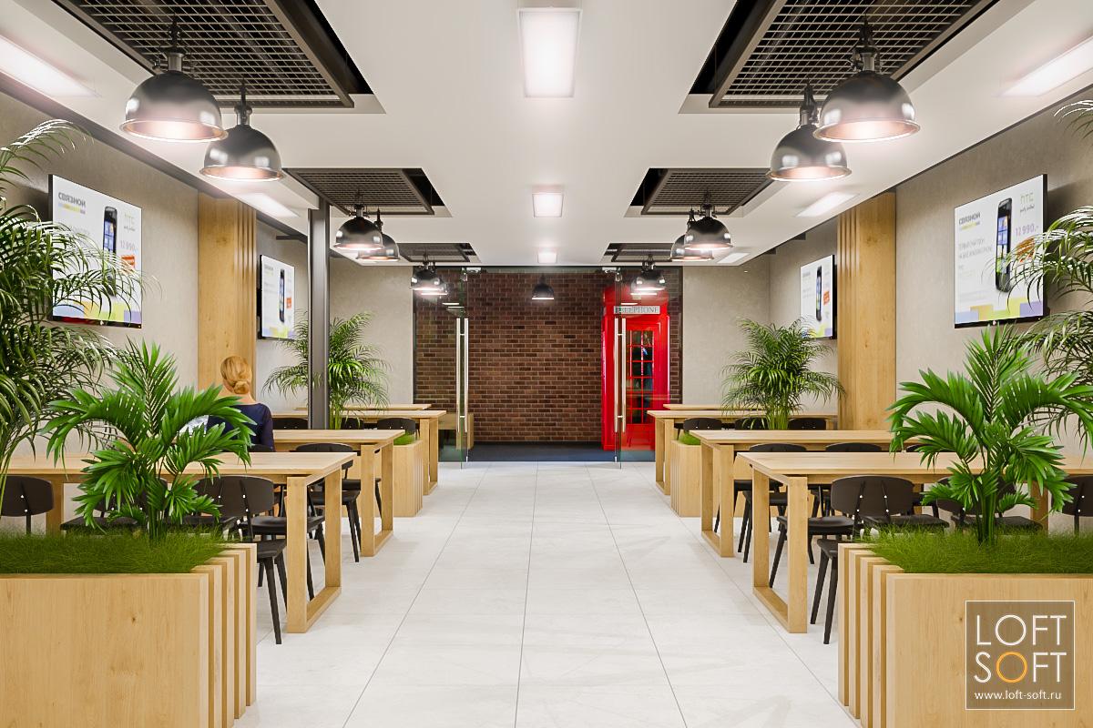Столовая встиле лофт вофисном помещении. Дизайн офиса встиле лофт.