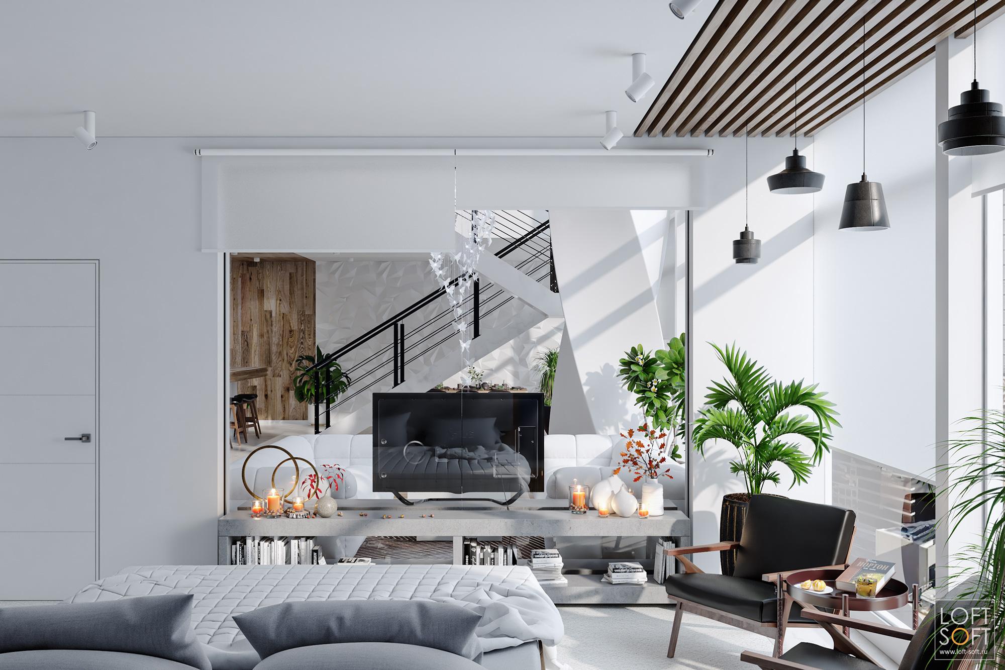 Дизайн дома всовременном стиле. Современный дизайн инемного лофта.