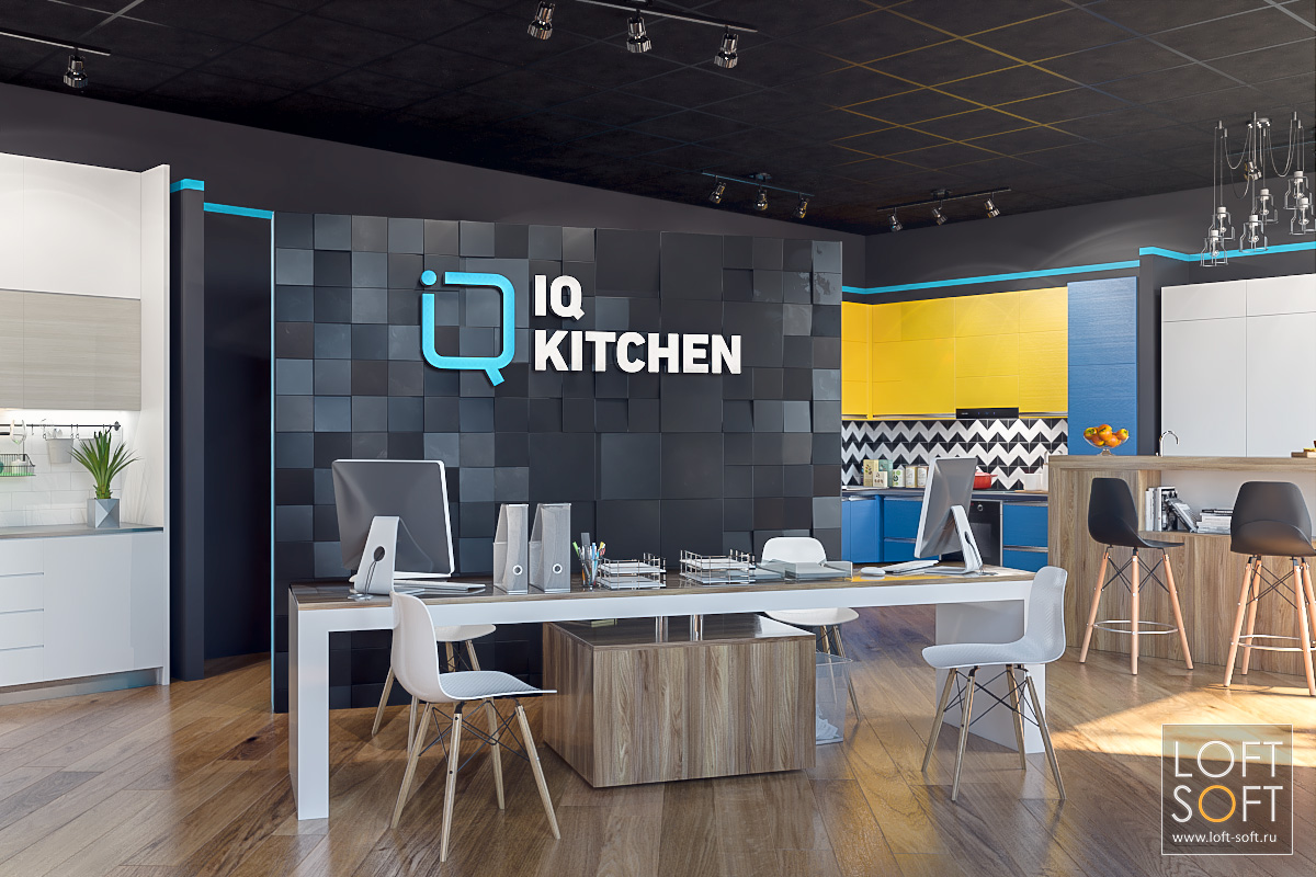 IQ Kitchen дизайн салона кухонь
