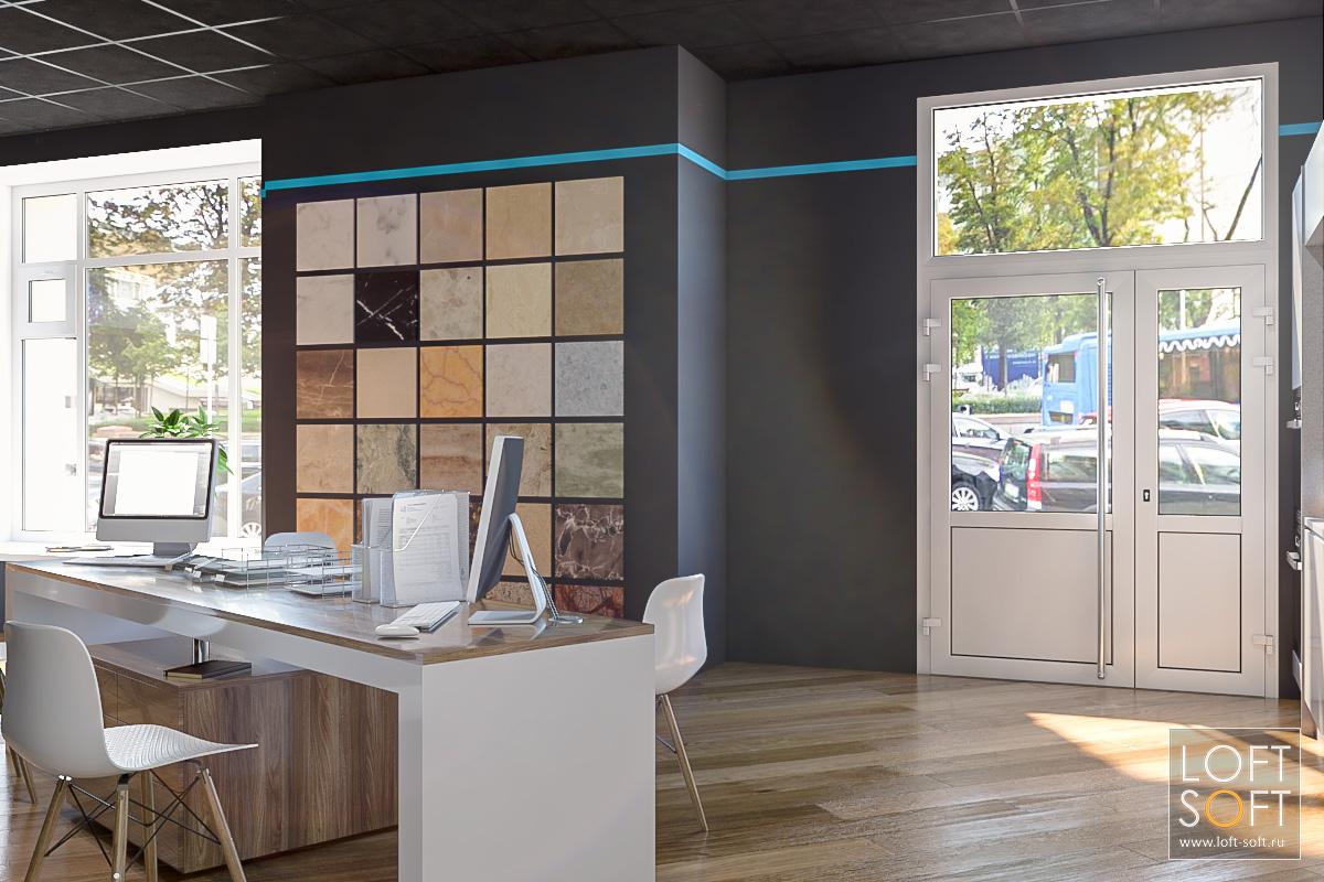 Темный дизайн салона IQ Kitchen