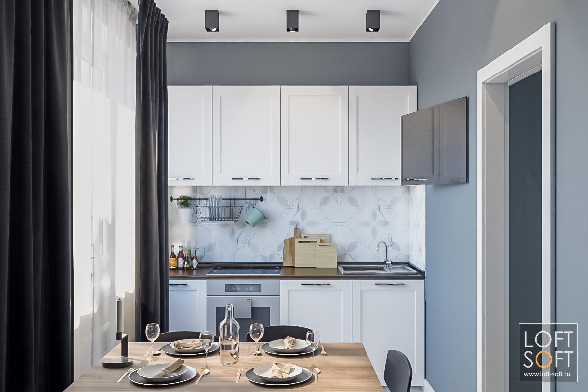 Современный дизайн кухни. Кухня вП44.