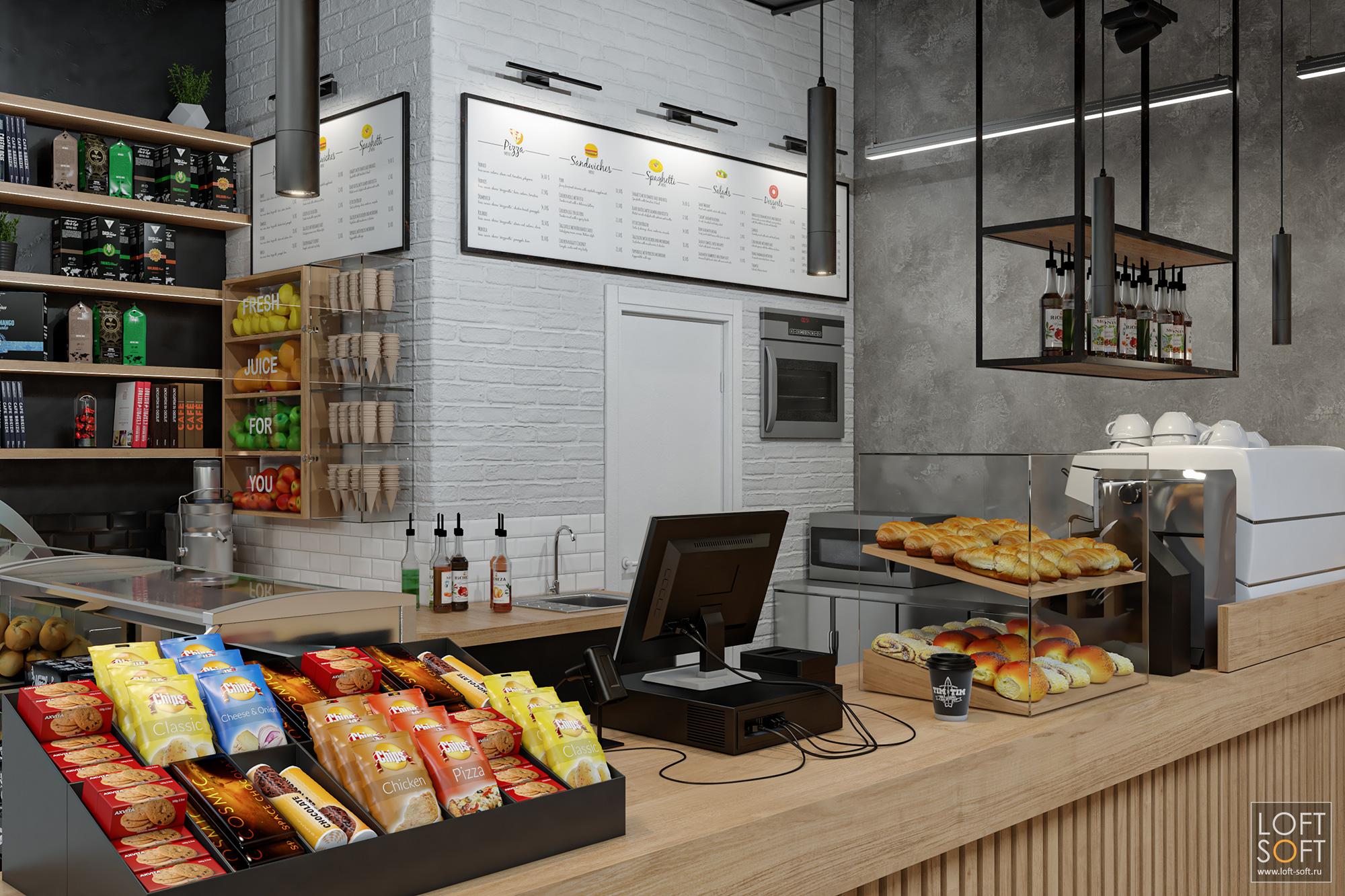 Дизайн кафе Tim Tim