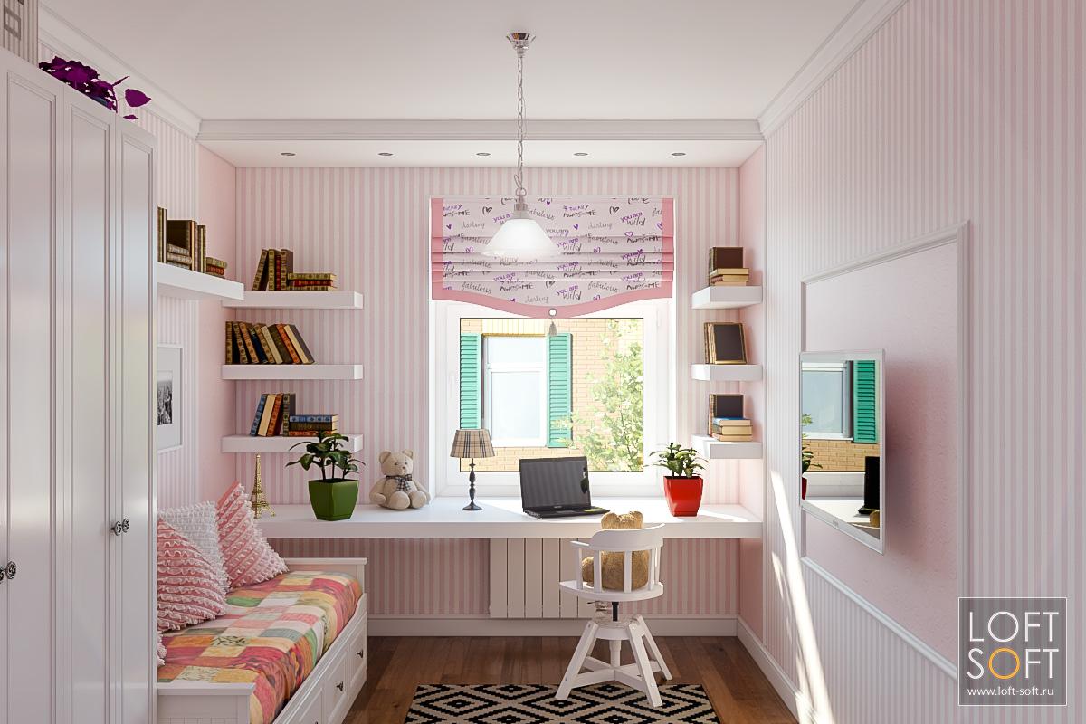 Детская комната для маленькой девочки.