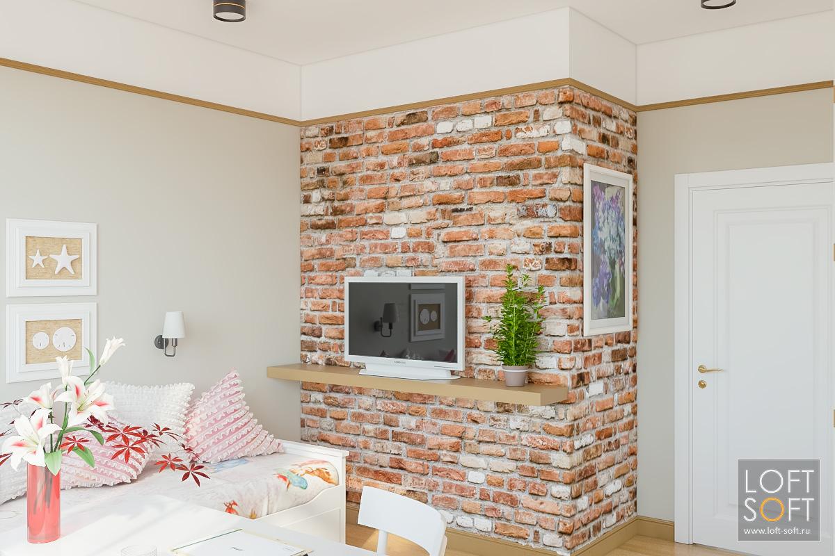 Дизайн дома встиле лофт. Детская комната.