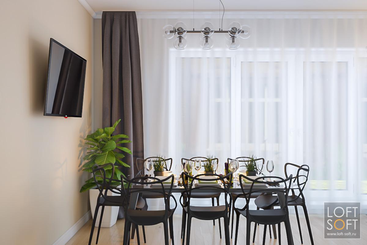 Современная мебель отCosmorelax вгостиной.