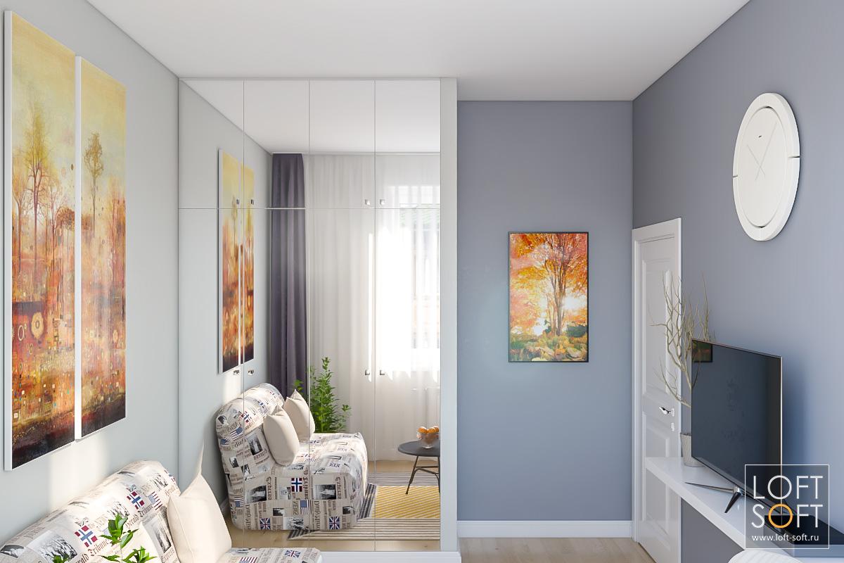 Как увеличить пространство комнаты? Поставить зеркало.