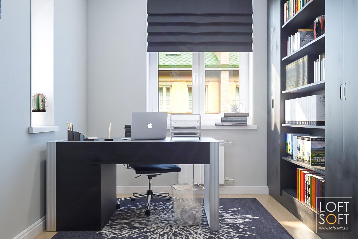 Рабочий кабинет взагородном доме. Дизайн рабочего кабинета.