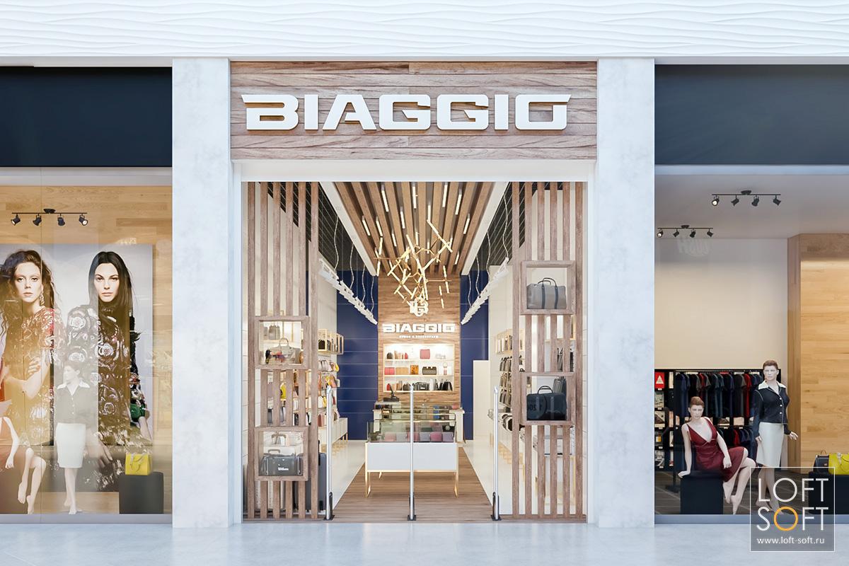 фасад магазина Biaggio вторговом центре