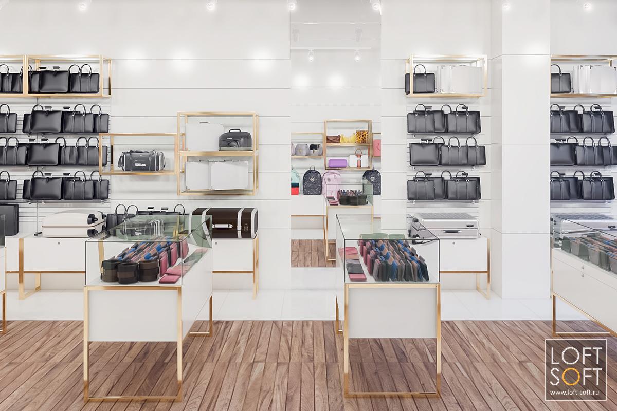 Дизайн магазина, стены из МДФ