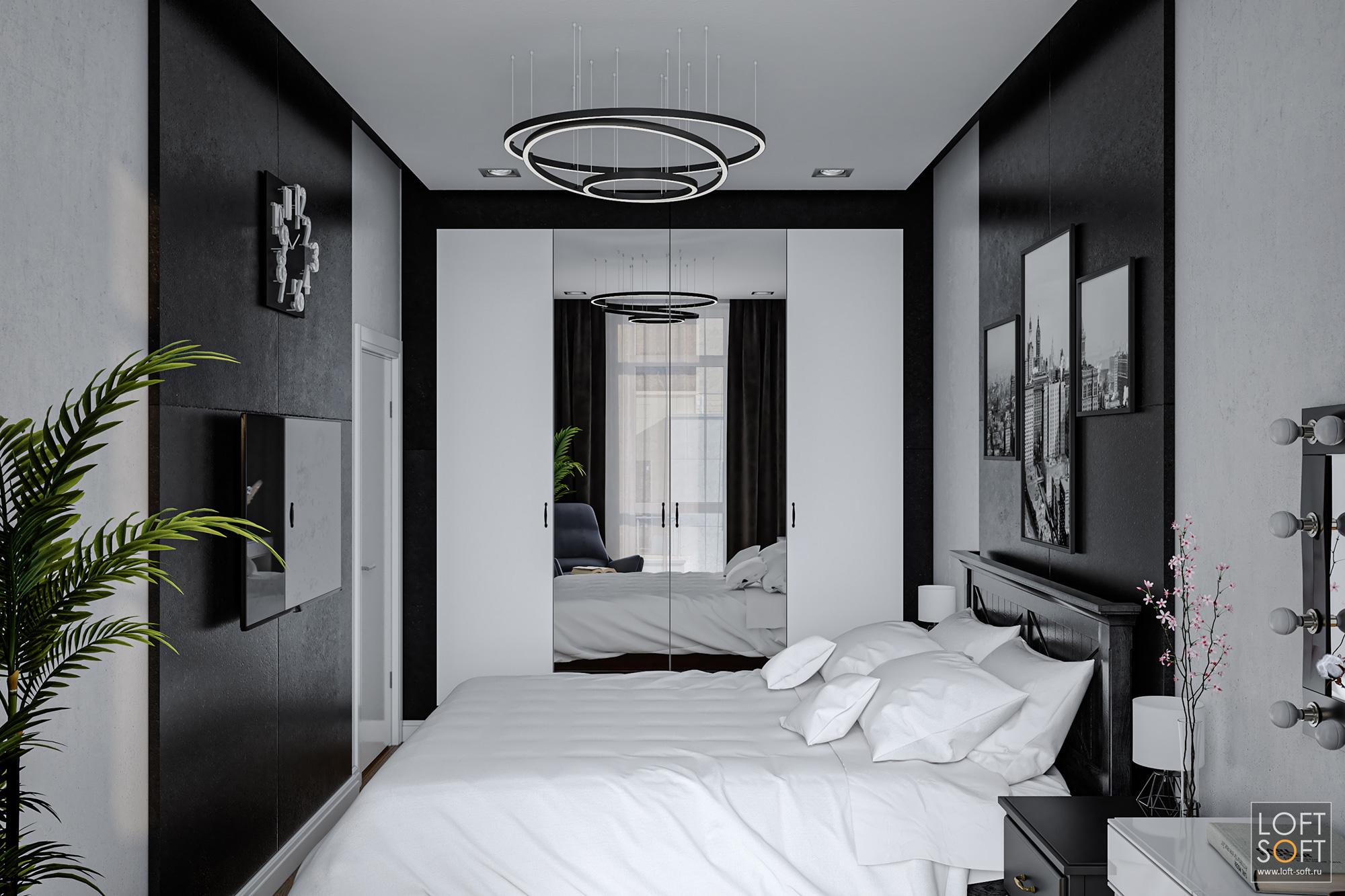Современный дизайн спальни.