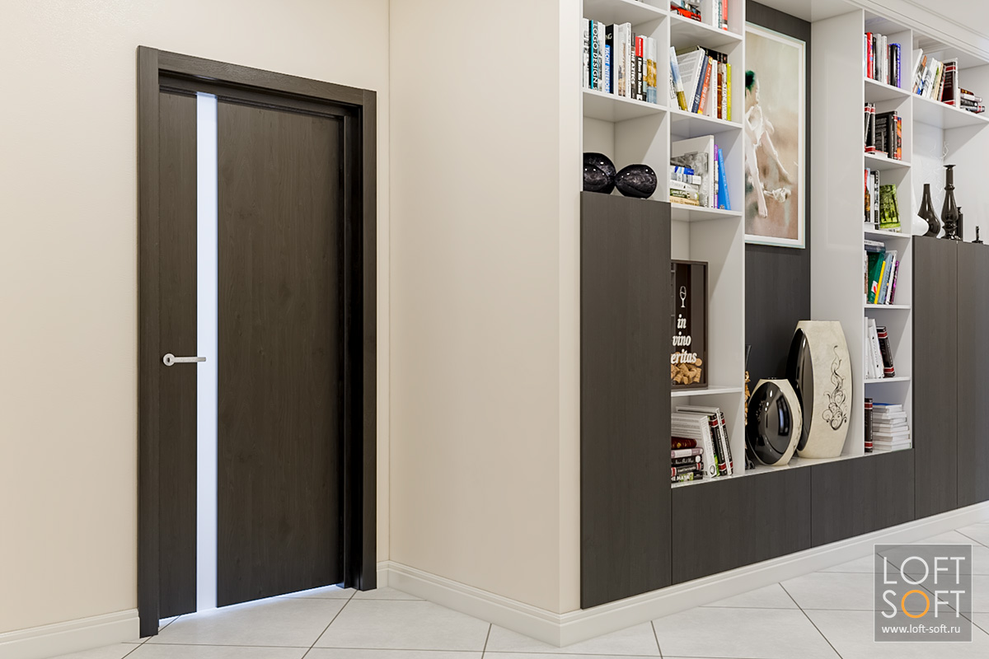 Коридор всовременном стиле, как обустроить коридор, loft soft