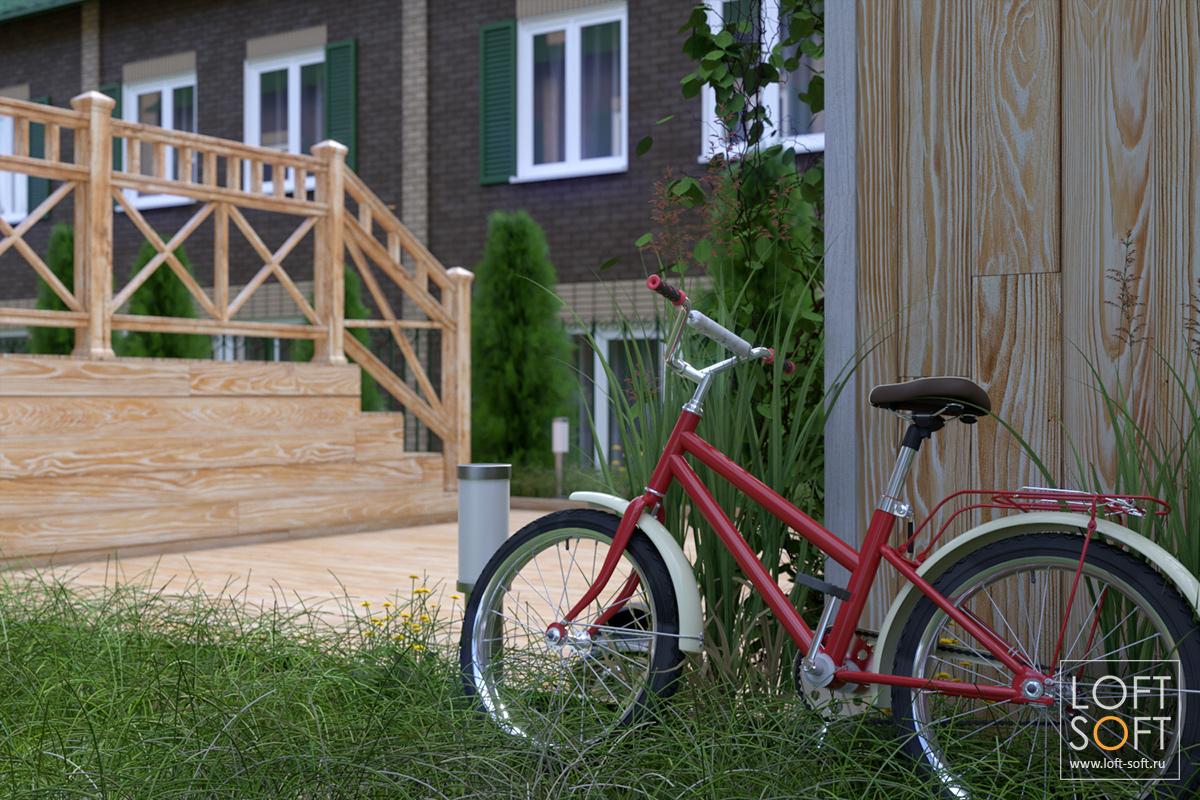 Дизайн придомовой территории таунхауса, детская площадка
