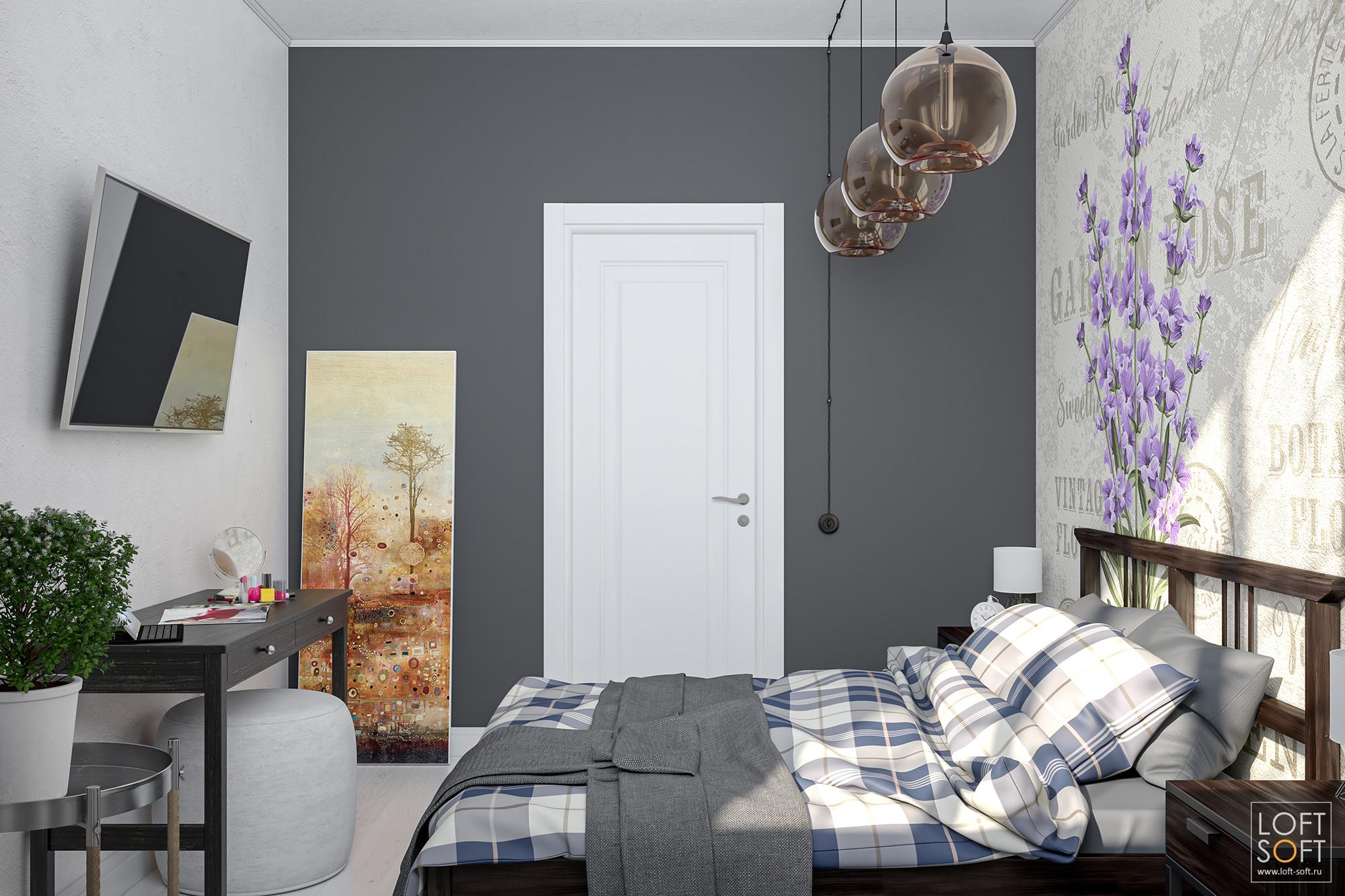 Оформление небольшой спальни. Прованс винтерьере.