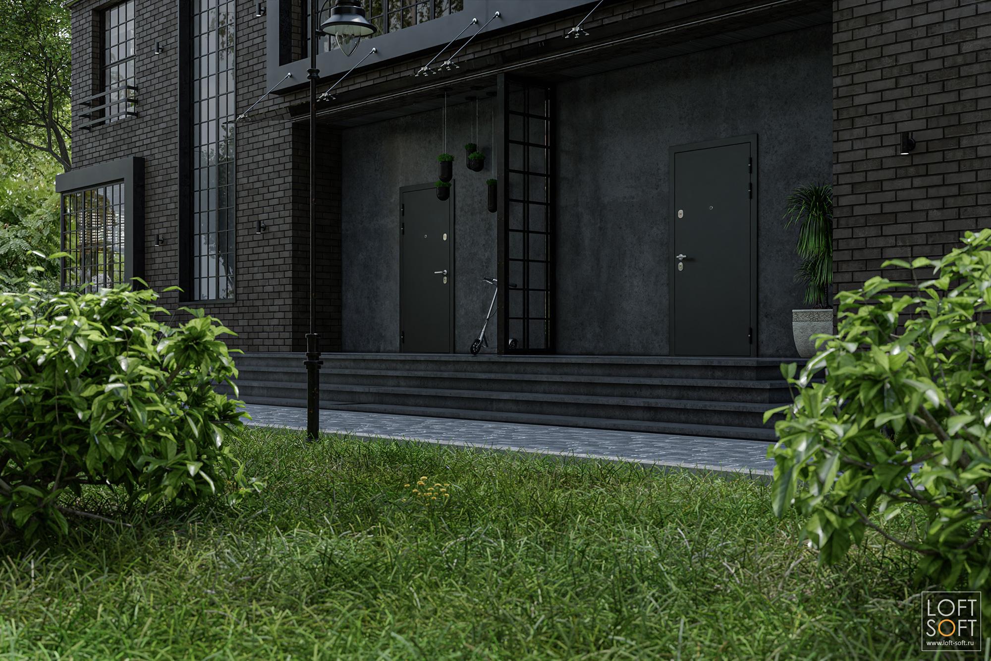 Параметрическая скамья влофт-квартале