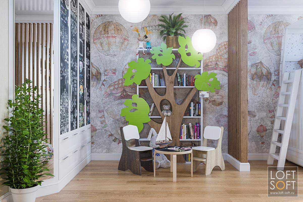 Фреска настене вдетской как элемент декора.