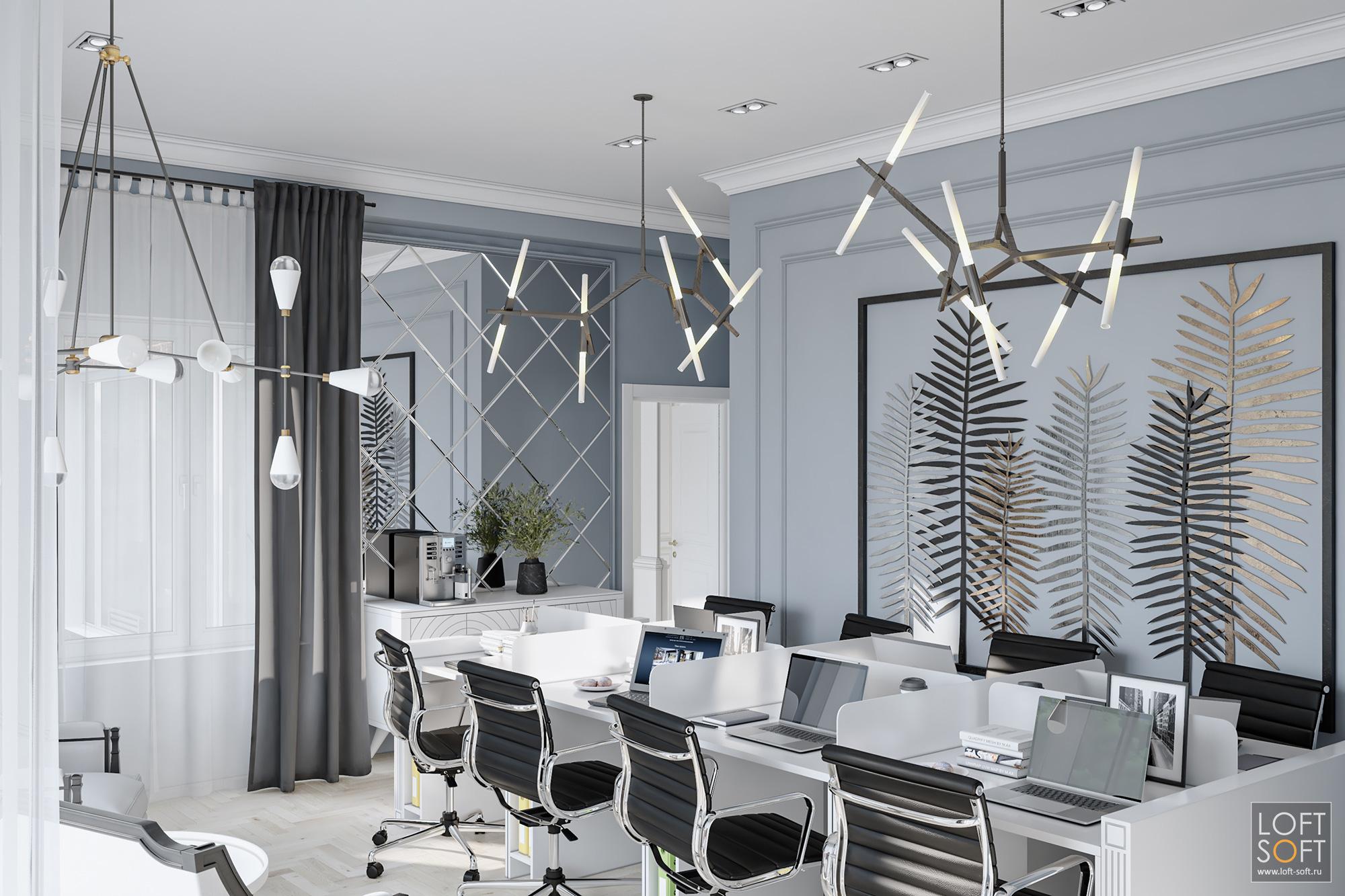 Дизайн интерьера офиса, современная классика вофисе