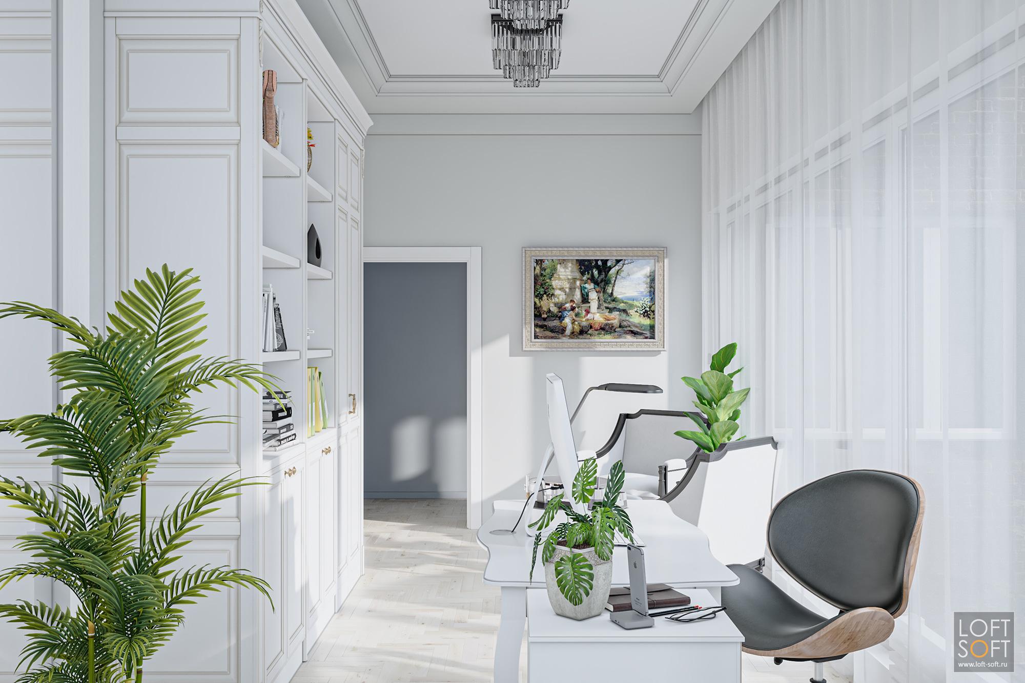 Офис встиле современная классика, дизайн кабинета руководителя