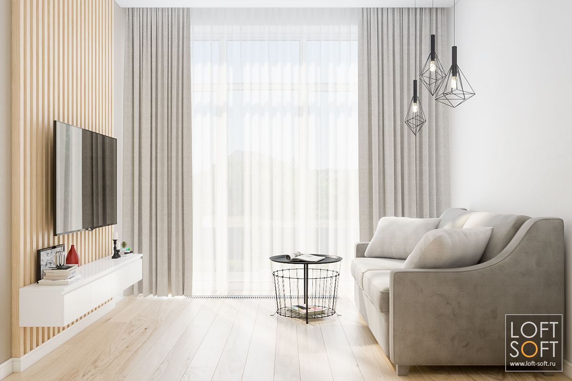 интерьер небольшой комнаты, современный минимализм винтерьере