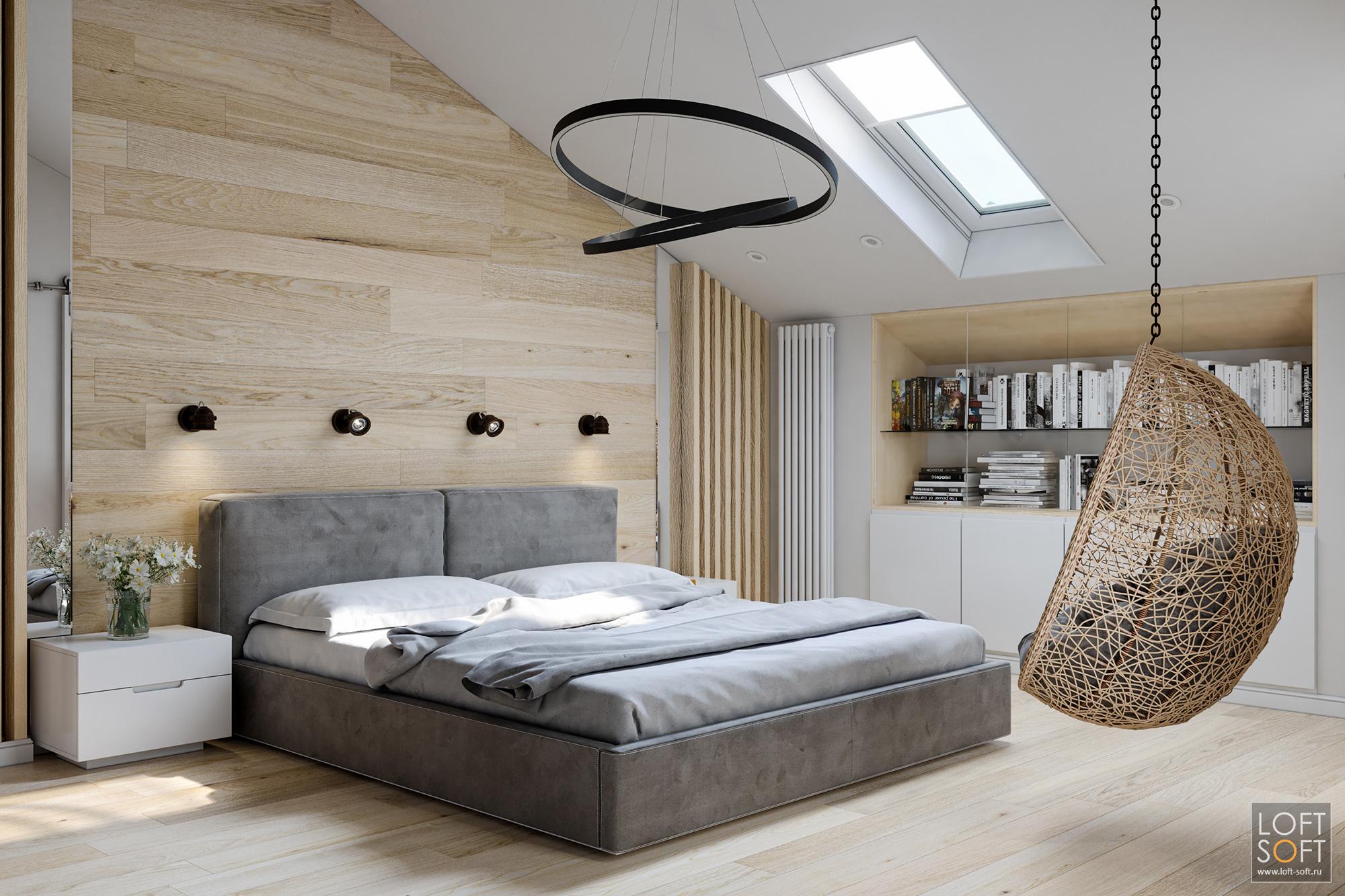 современный минимализм винтерьере, современная спальня