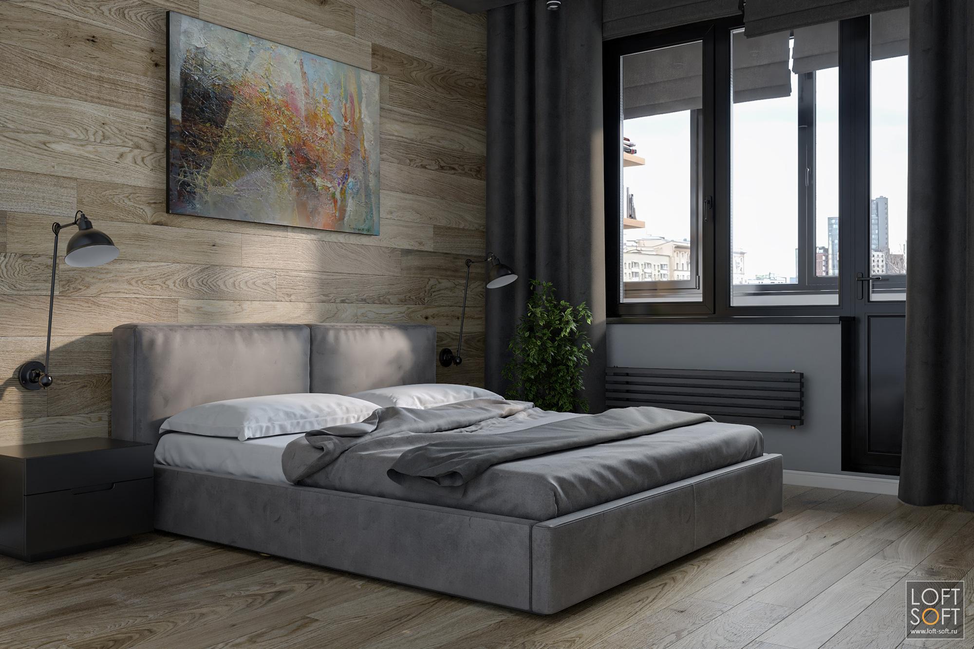 лучшая спальня, заказать дизайн проект, ламинат настене это хорошо
