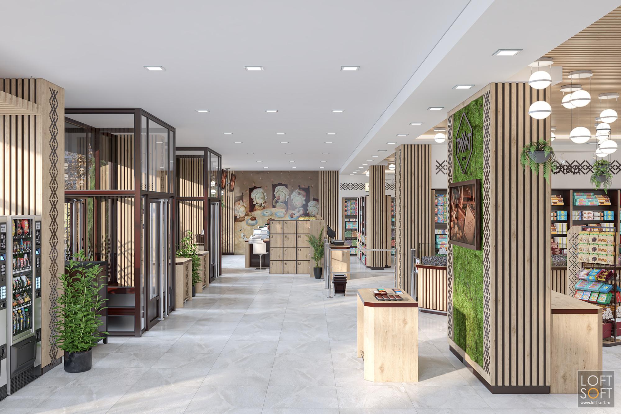 современный интерьер магазина