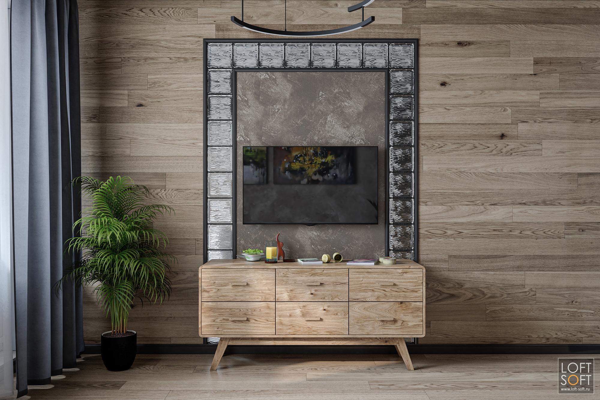 стеклоблоки винтерьере, проём встене, современный дизайн интерьера