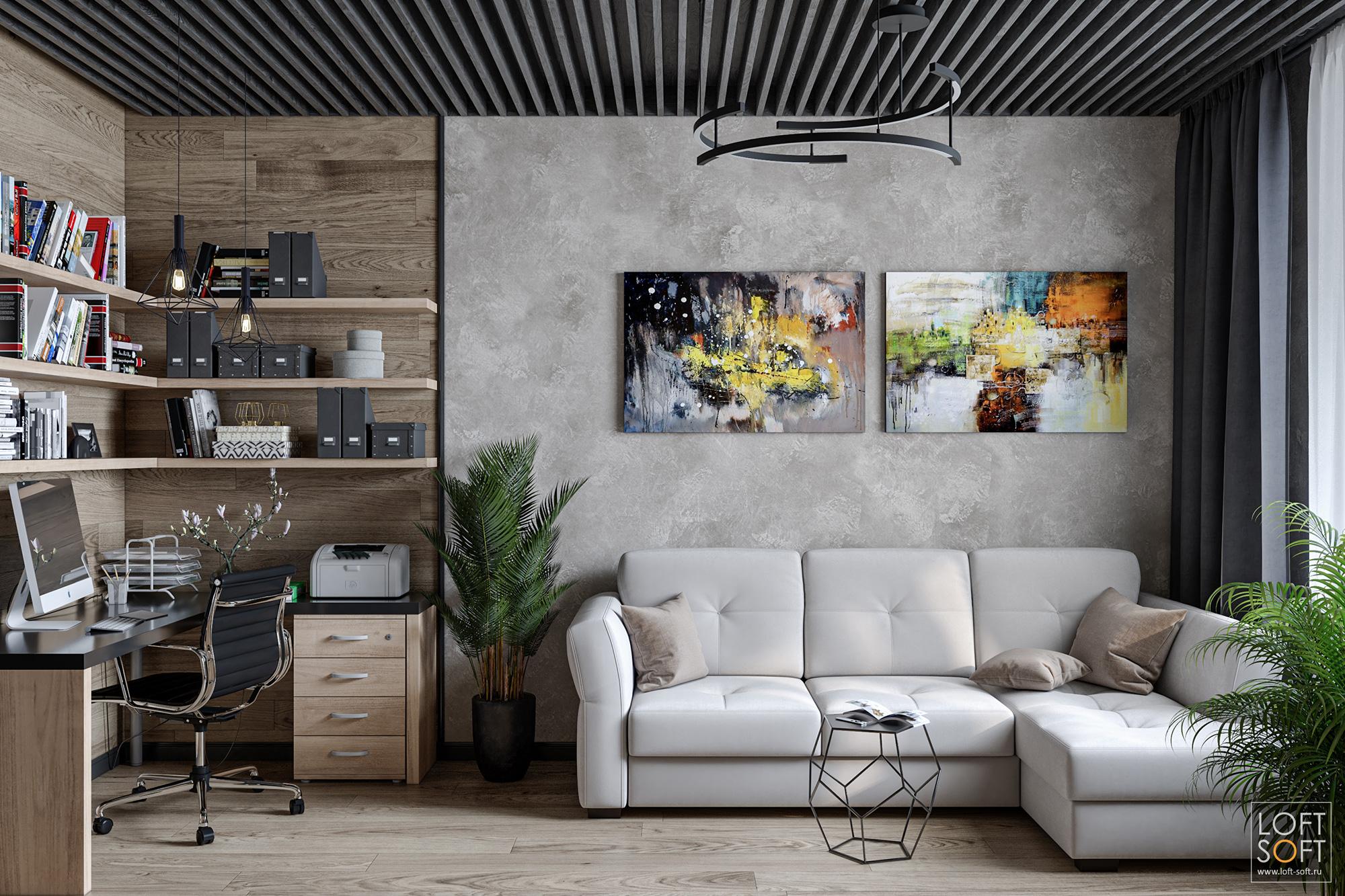 современный интерьер воднушке, реечный потолок, заказать проект