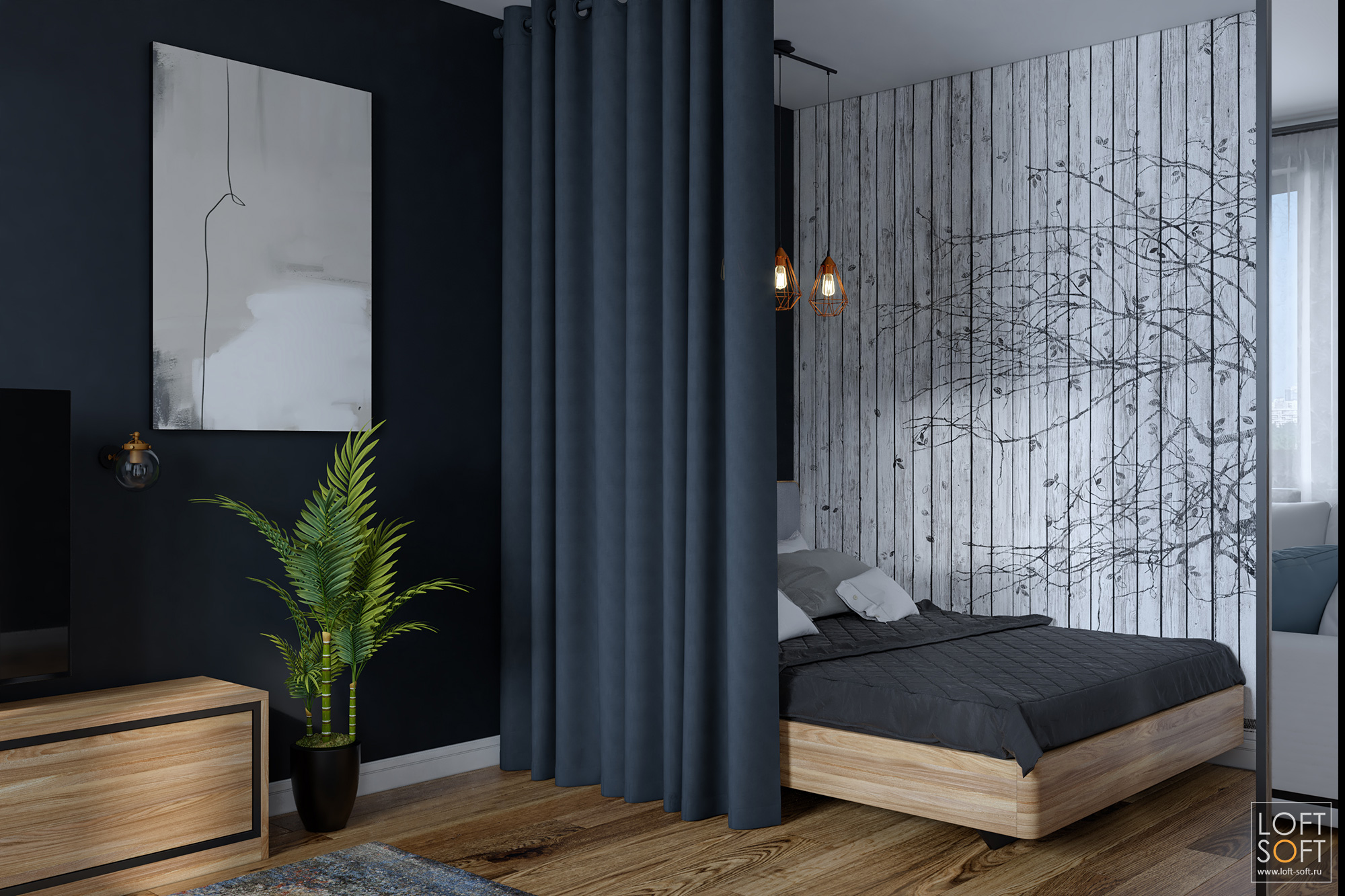Дизайн П-44 —размещение спальной зоны воднушке
